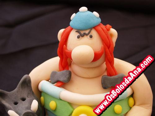 Bolos Decorados Crianças - Obelix e o Javali