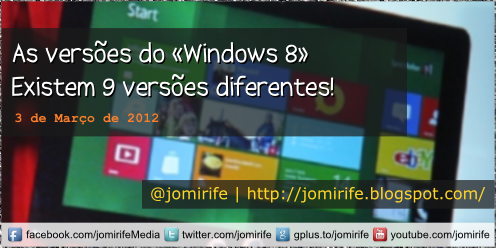 Blog: Versões do Windows 8
