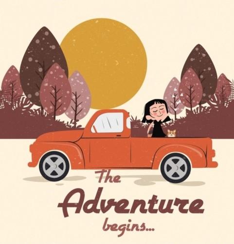 adventure-trip-background-girl-car-icon-colored-ca