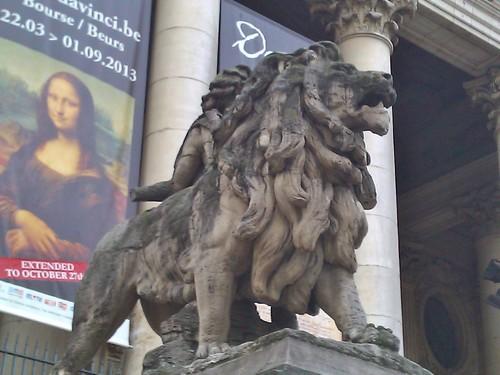 o leão e mona lisa