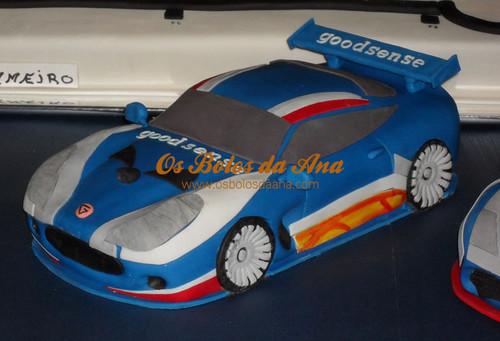 Bolo Decorado 3D Carro Ginetta G50  - Carros da Equipa GoodSense Racing