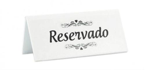 Placa Reservado
