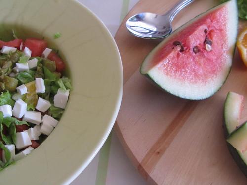 Salada de Melancia, Laranja e Espargos