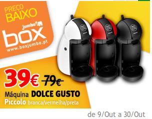 Dolce Gusto a 39€ na Box do Jumbo, até 30 outubro