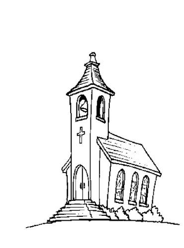Igreja Desenhos Para Colorir O Mundo Das Criancas