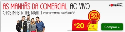 50% de desconto | CONTINENTE | Concerto Natal Comercial