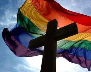Bandeira Arco-Iris e Cruz