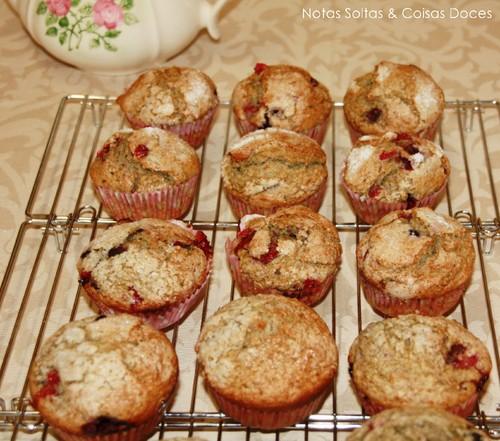 Muffins de frutos vermelhos