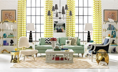 Jonathan-Adler-Living-Room-ideas-in-yellow-and-gol
