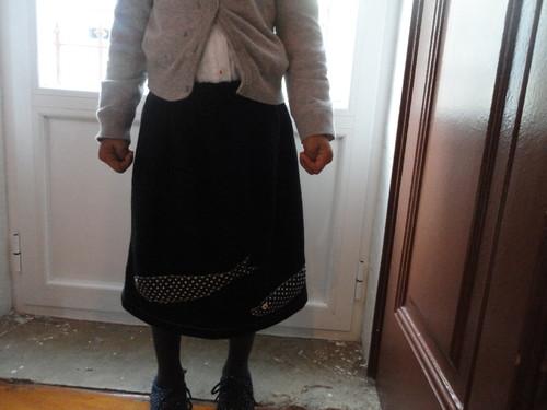 primeira saia feita por mim