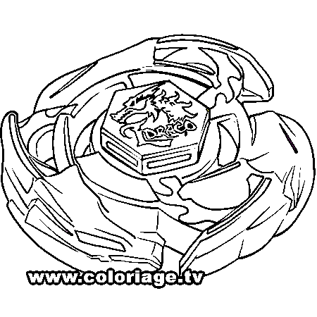 Beyblade Metal Fury Coloring Pages