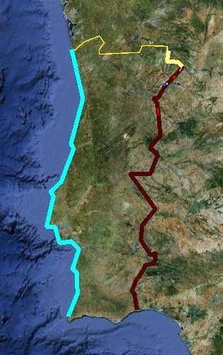 Perímetro já percorrido em Junho de 2012
