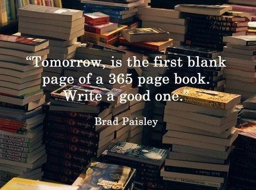 Tomorrow is the first blank page