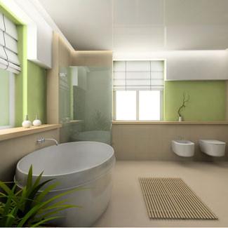 casa de banho decorada em verde