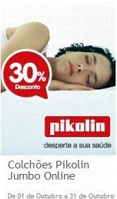 30% em colchões Pikolin