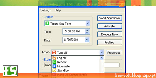 Slawdog smart shotdown - programar encerrar o computador