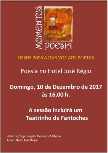 """""""Momentos de Poesia"""" - Cartaz Dez. 2017 Jpg."""