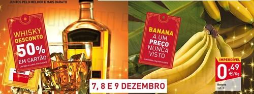 Fim de semana | INTERMARCHÉ | 7 a 9 dezembro, 50% em whisky e banana a 0,49€ / Kg