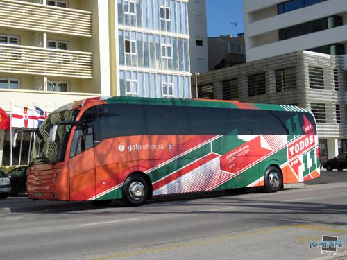 Autocarro Selecção Nacional na Figueira da Foz
