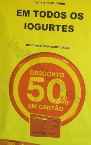 50% de desconto CONTINENTE Iogurtes - Foto