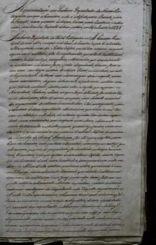 Petição sobre a cedência de parte do Mosteiro S