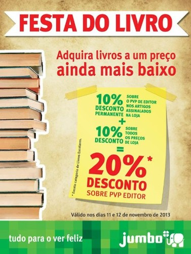 20% de desconto | JUMBO | Livros 11 e 12 novembro