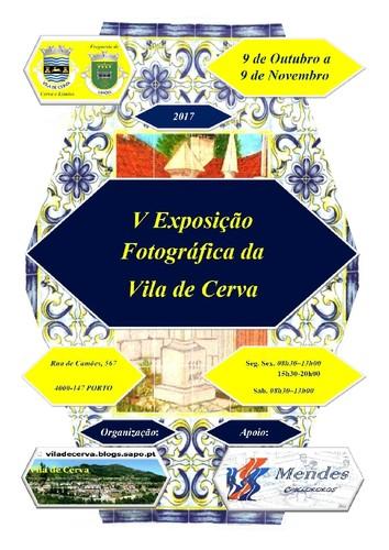 Cartaz V Exposição Fotográfica, Cerva no Porto.