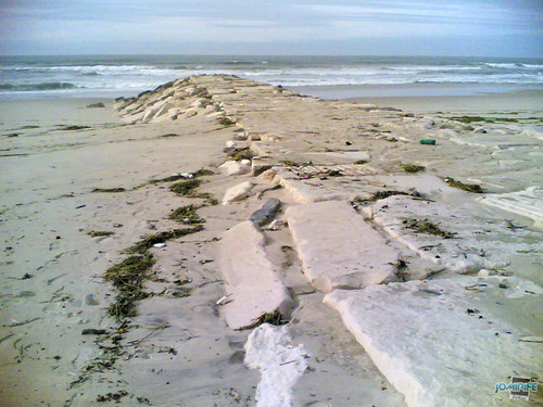 Temporal na praia do Cabedelo - Molhe