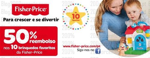 50% de desconto | TOYSRUS | Fisher-Price