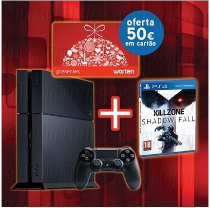 50€ em cartão Presente | WORTEN | na Compra da PS4 + Jogo