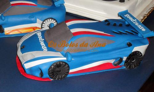 Bolo Decorado 3D Carro Lamborghini Gallardo LP600+ - Carros da Equipa GoodSense Racing