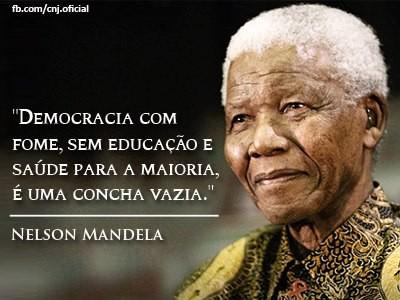 nelson Mandela - democracia