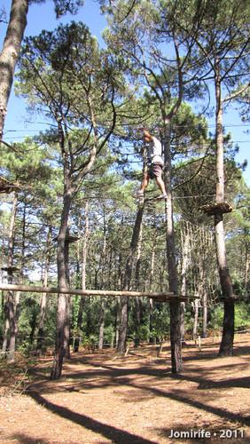 Parque Aventura: Equilíbrio no cabo de aço