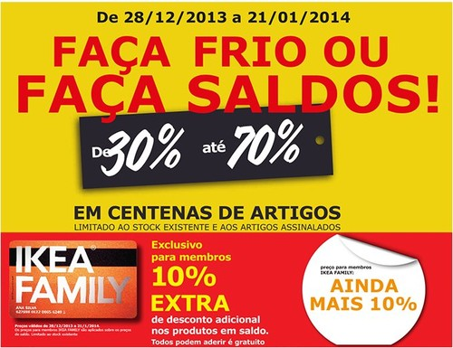 Saldos | IKEA | de 28 dezembro 2013 a 21 janeiro 2014