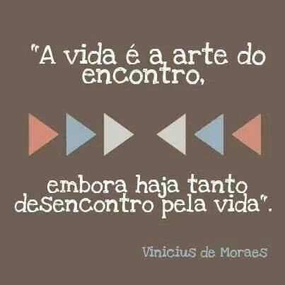 a vida é arte do encontro