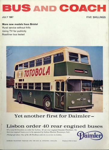 «Mais um primeiro lugar para a Daimler» (Bus & Coach, Jul. 1967)