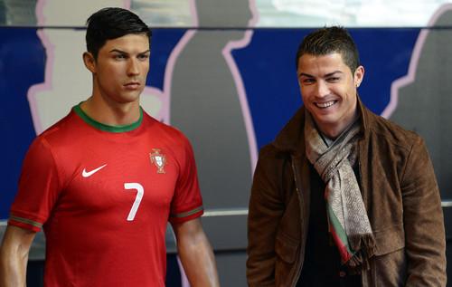 Ronaldo de cera em Madrid