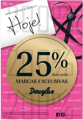 25% de desconto | DOUGLAS | de 28 março a 6 abril