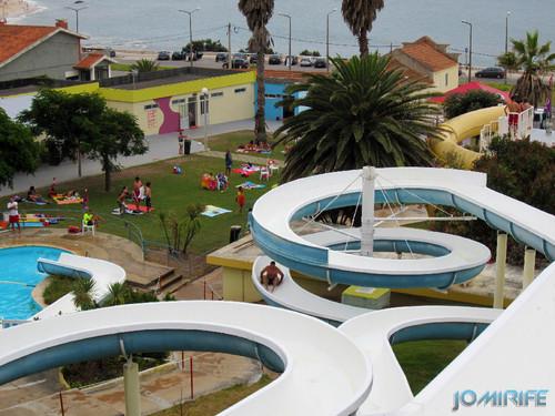 Aquaparque Teimoso na Figueira da Foz (3) Espirais do escorrega [en] Teimoso Aqua park in Figueira da Foz Portugal