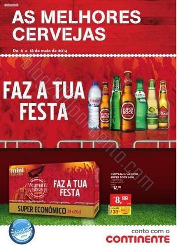Novo folheto | CONTINENTE | de 6 a 18 maio - Cervejas