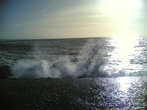Mar bravo no molhe na Figueira da Foz