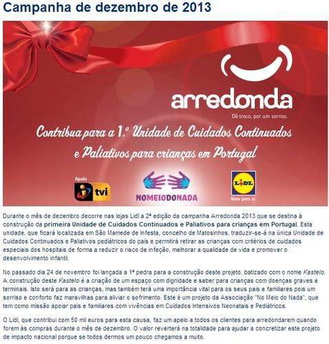Arredonda | LIDL | Campanha de dezembro