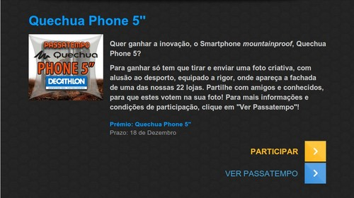 Passatempo ganha o novo smartphone | DECATHLON | Quechua 5