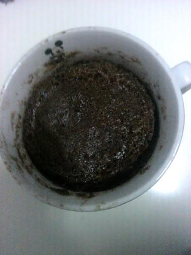 Bolo chocolate caneca e microondas