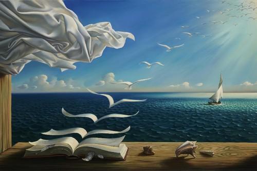 Digital-da-arte-da-fantasia-de-pintura-da-natureza