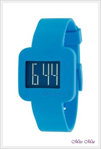 relógio marea azul