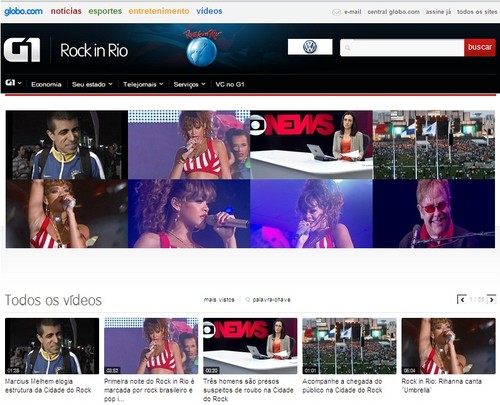 Videos shows Rock in Rio 2011