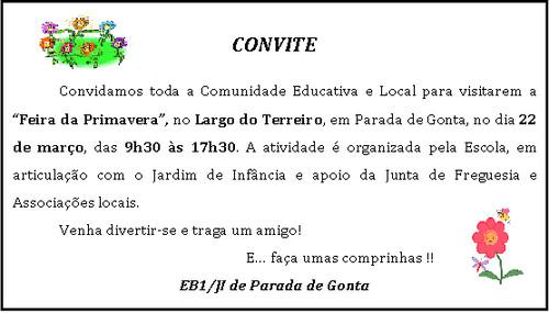 convite feira