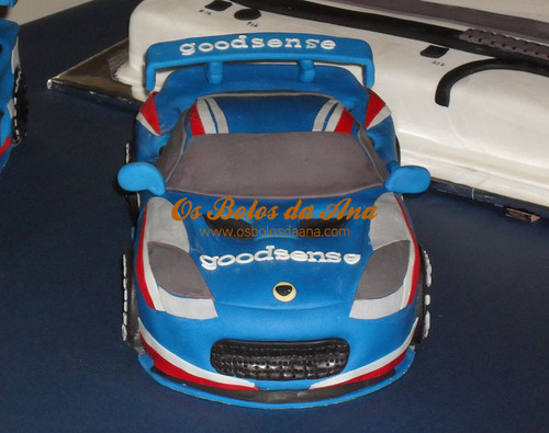 Bolo Decorado 3D Carro Lotus Evora - Carros da Equipa GoodSense Racing
