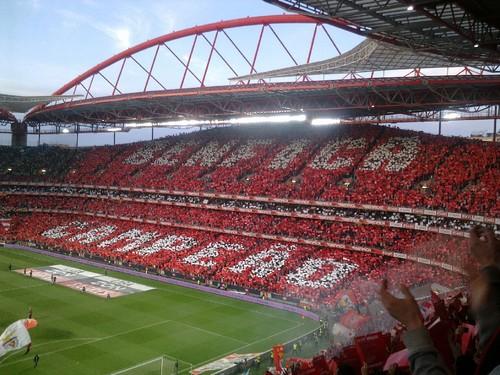 Estádio da Luz, coreografia no SLB- SCP